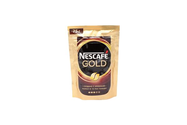Кофе Нескафе Голд раст.  75г пакет