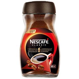 Кофе Нескафе Классик с молотой арабикой 95г ст/б