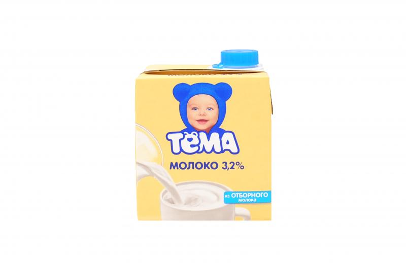 Молоко Тема детское 3,2%  0,5л