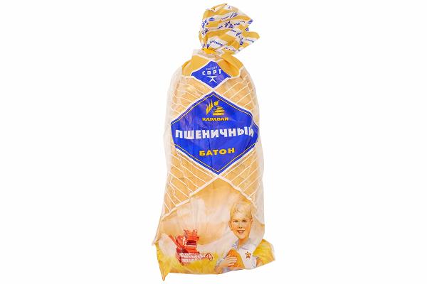 Батон Пшеничный в/с 300г  рез.  Каравай