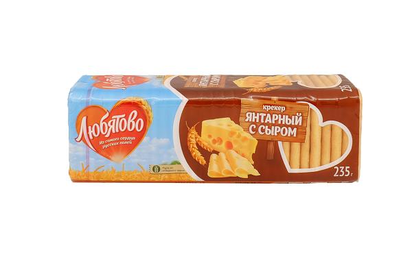 Крекер Любятово Янтарный с сыром 235г