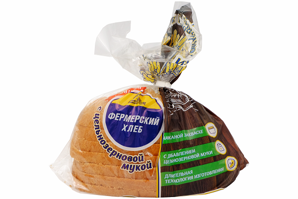 Хлеб Фермерский  330г рез.  Каравай