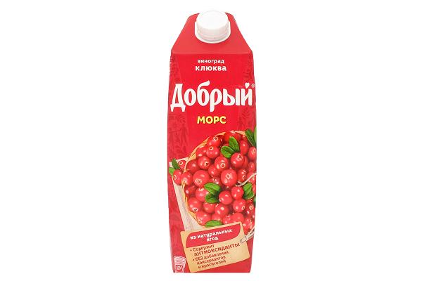 Морс Добрый виноград-клюква 1л