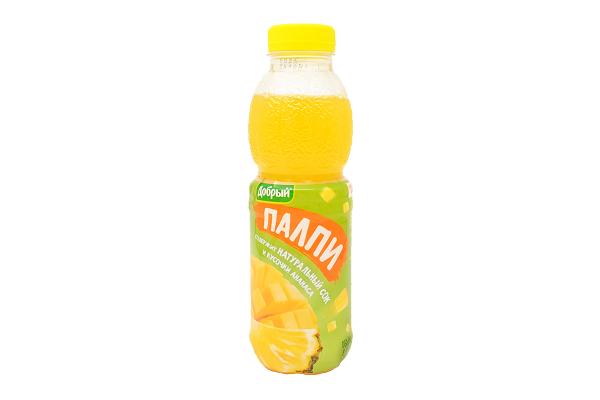 Напиток Добрый Палпи ананас/манго 0,45л ПЭТ