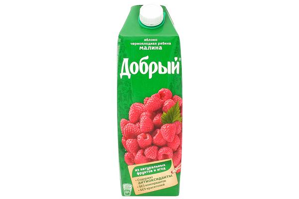 Нектар Добрый яблоко/малина/ч.ряб. 1л