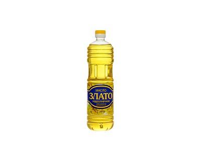 Масло Злато подсолнечное 1л