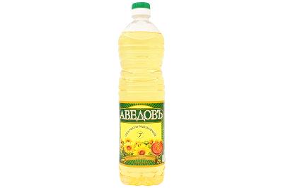 Масло Аведовъ подсолнечное раф. 1л