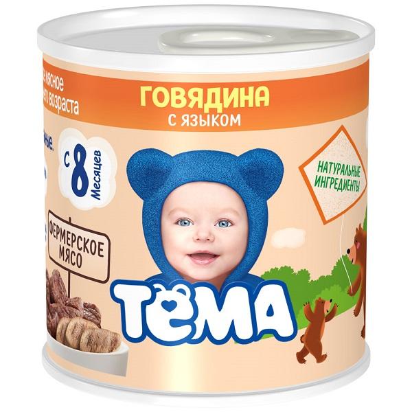 Пюре Тёма говядина/язык 100г