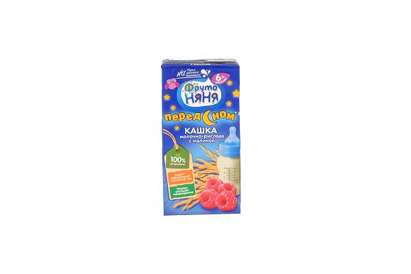Каша Фр.Няня мол.-рисовая с малиной 0,2л