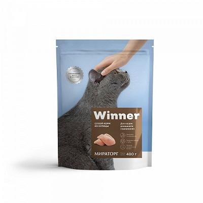 Корм Виннер д/кошек дом.содержания 1-7 курица 400г