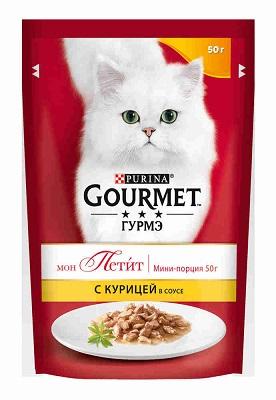 Корм Гурме Мон Пети д/котят курица  50г