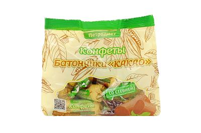 Конфеты Батончики Какао на фруктозе  200г Петродиет