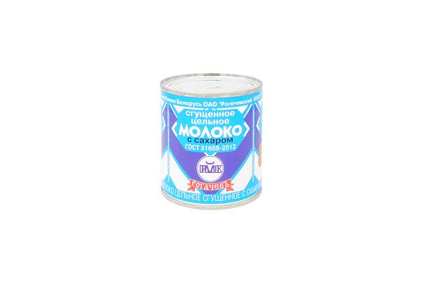 Молоко сг/сах РогачевЪ 8,5% 380г ж/б БЗМЖ