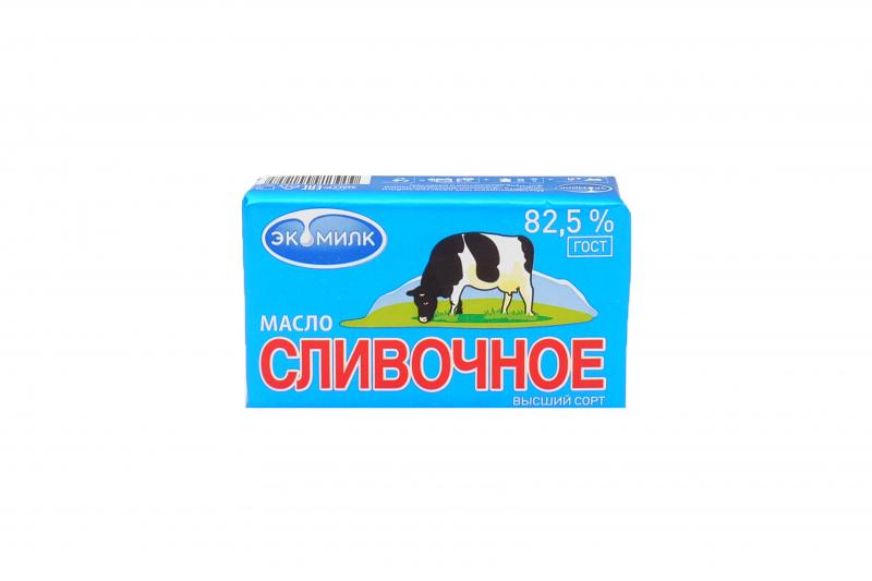 Масло сливочное ГОСТ 82,5% 180г Экомилк БЗМЖ