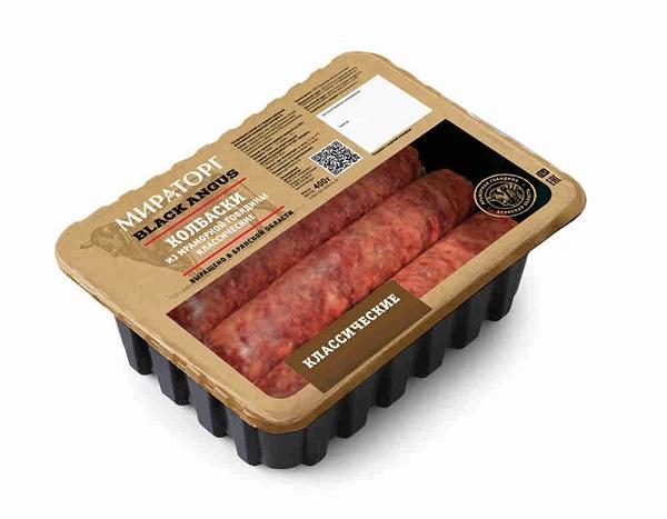 Колбаски из мраморной говядины Классические охл. 400г Мираторг
