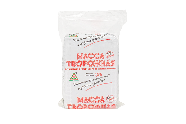 Масса тв. Пискаревская с изюмом 4,5% 250г БЗМЖ