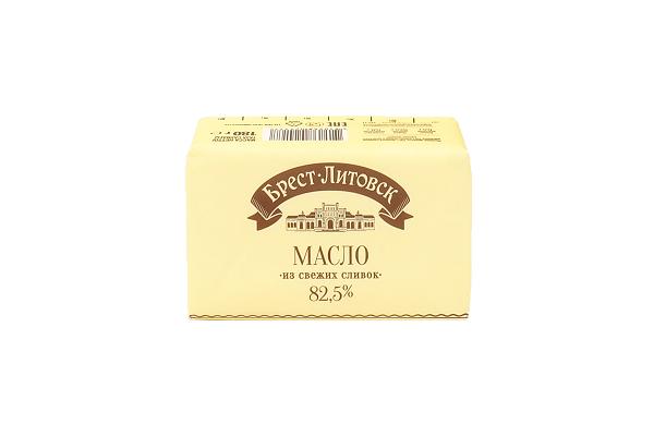 Масло Брест-Литовское сливочное 82,5% 180г БЗМЖ