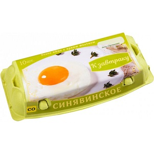 Яйцо Синявинское к завтраку СО 10шт