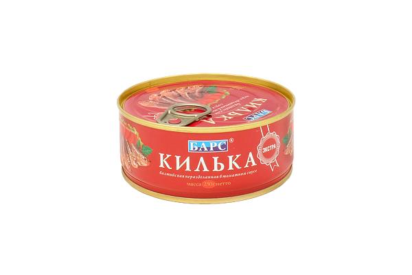 Килька БАРС Золотой Резерв в том.соусе 250г