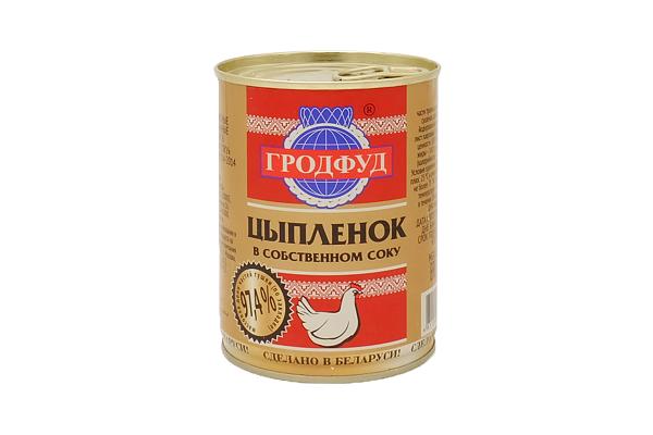 Мясо цыпленка в с/с ГРОДФУД 350г ж/б