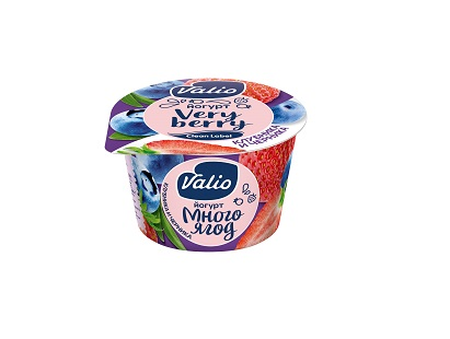 Йогурт Валио черника/клубника  2,6% 180г БЗМЖ