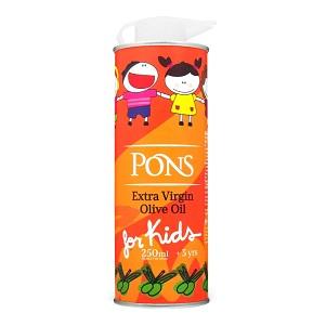 Масло PONS олив. нераф.E.V. 0,25л ж/б for kids (от 3лет)