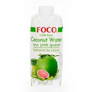 Кокосовая вода FOCO с розовой гуавой 330мл Tetra Pak