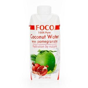 Кокосовая вода FOCO с соком граната 330мл Tetra Pak