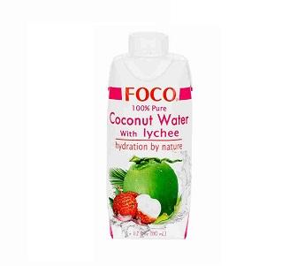 Кокосовая вода FOCO с соком личи 330мл Tetra Pak