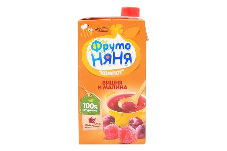 Компот Фр.Няня вишня/малина 0,5л