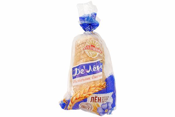Хлеб Де Лён подовый 350г резка