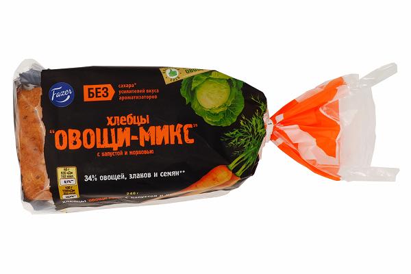 Хлебцы Фацер Овощи-Микс с капустой и морковью 240г