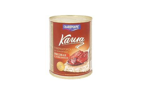 Каша Губернаторская рисовая с говядиной 340г Главпродукт