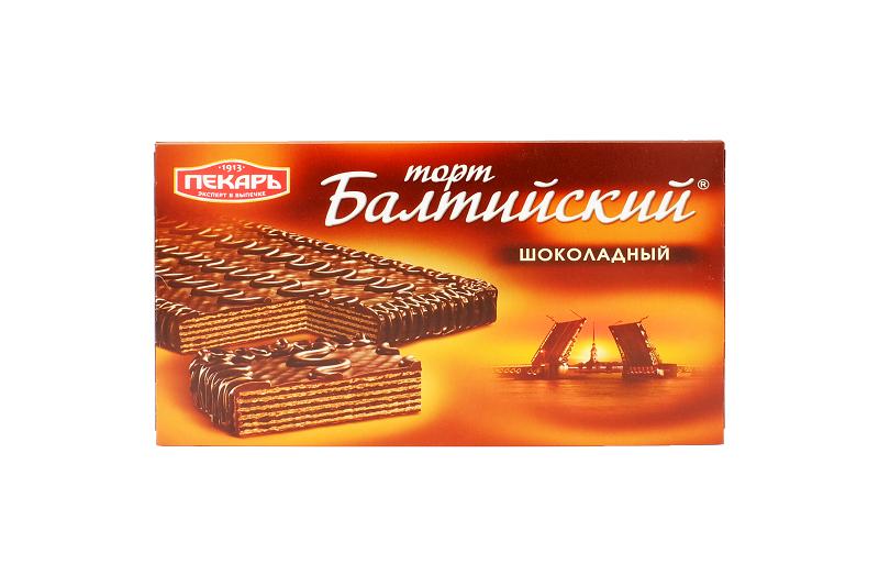 Торт Балтийский шоколадный 320г Пекарь