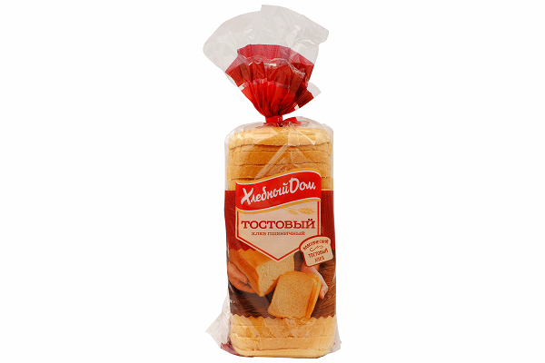 Хлеб ХД Тостовый 500г рез.