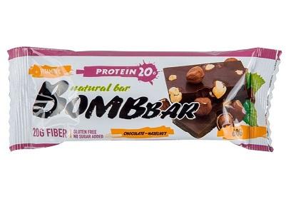 Батончик BombBar протеин шоколад/фундук 60г