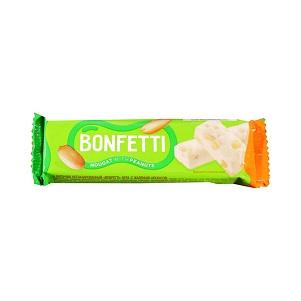Батончик Bonfetti нуга/арахис 25г