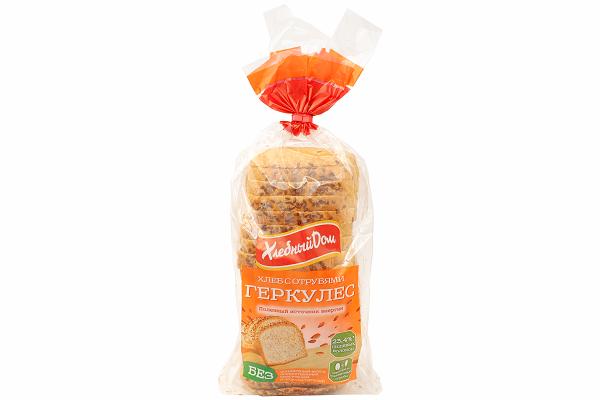 Хлеб ХД Геркулес с отрубями 500г