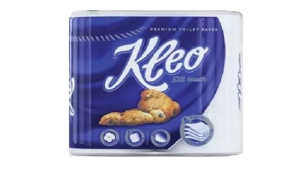 Туалетная бумага Kleo Silk Touch 4 слоя 4 рулона
