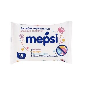 Салфетки Mepsi антибактер. очищающие 15шт