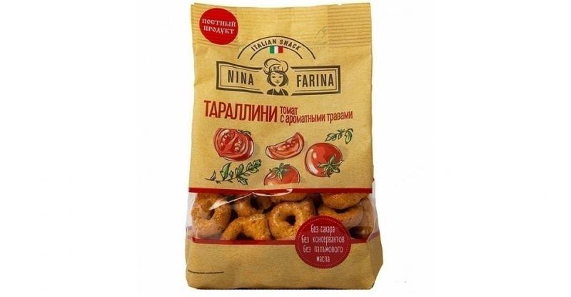 Тараллини NINA FARINA томат и травы 180г
