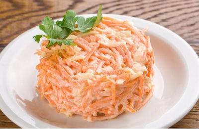 Салат Морковь с чесноком