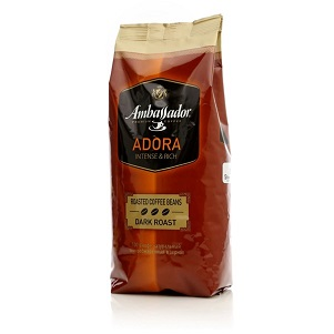 Кофе Амбассадор АДОРА темнообжар. 900г зерно