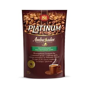 Кофе Амбассадор Платинум раств. 75г пакет