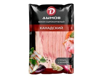 Бекон Канадский с/к в/у 150г  Дымов