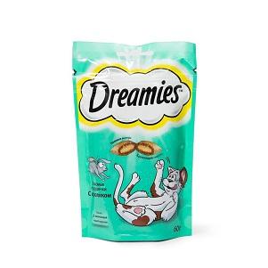 Корм Dreamies д/кошек кролик 60г