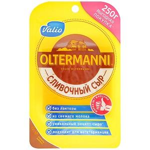 Сыр Ольтермани сливочный 45% 250г нарезка Валио