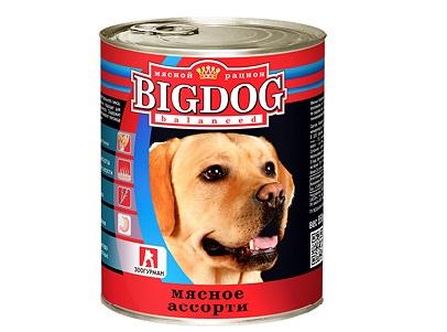 Корм ЗооГурман Big Dog д/собак мясн.асс. 850г ж/б