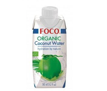 Кокосовая вода FOCO Organic 330мл Tetra Pak