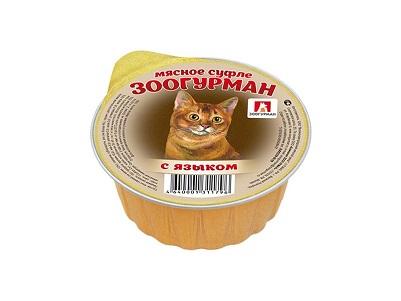 Корм ЗооГурман д/кошек суфле с языком 100г